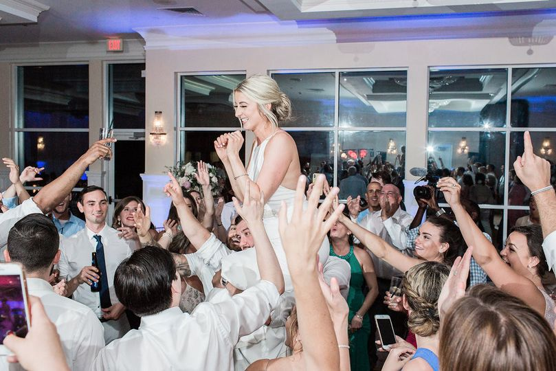 Brides can crowd surf to!