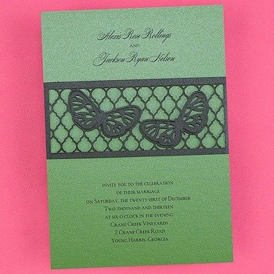 butterfly band invitation