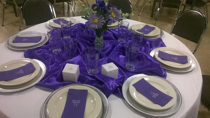 Purple & White Heartfelt Retirement Dinner