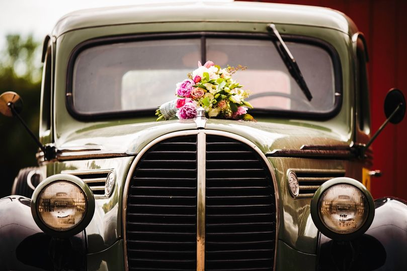 Bouquets and automobiles