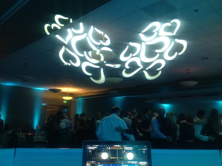 Projection over the dance floor