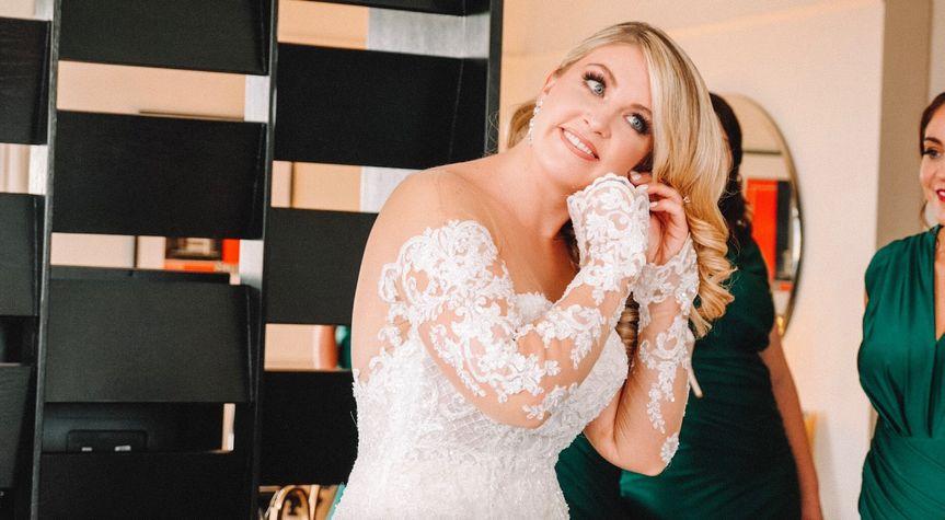 Lindsay bridal prep.