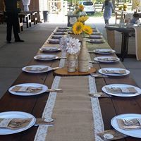 Wedding long table setup