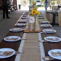 Wedding long table setup