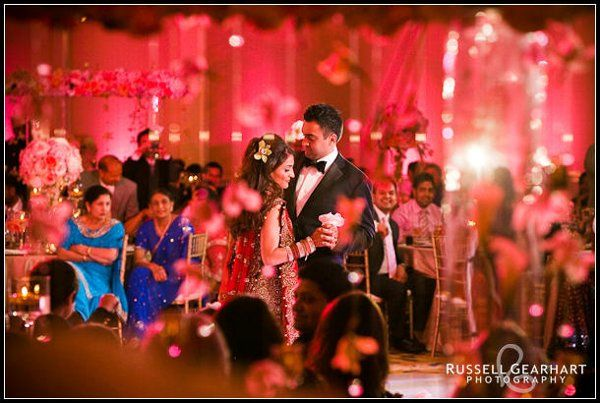Lighting creates an ambiance for your special moment.