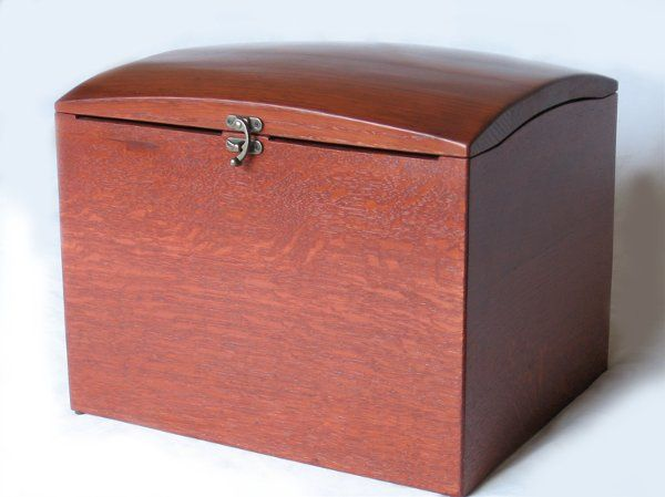 The Wish Box, recycled oak wine barrel wedding wish box with card slots