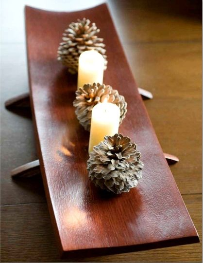 Recycled wine barrel staves tray, centerpiece, wedding present