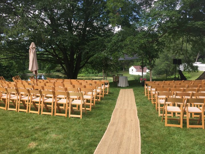 ceremony seats with aisle ali barone events