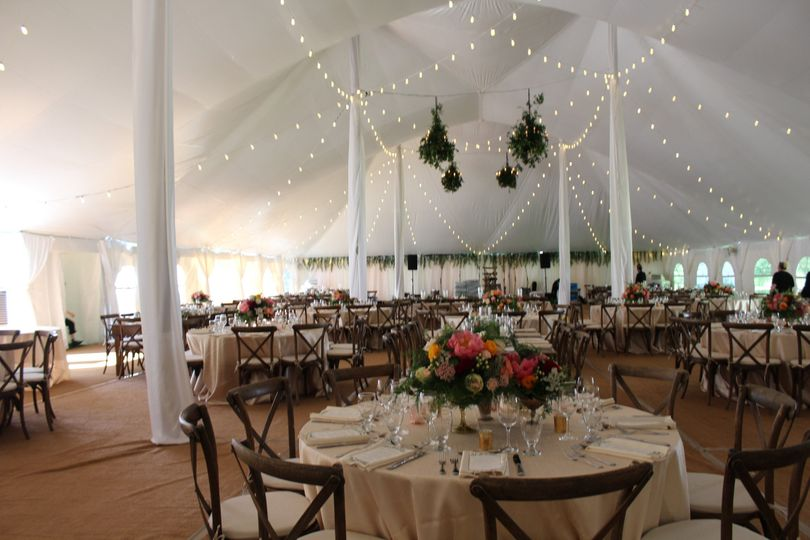 full tent with lighting ali barone