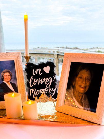 In loving memory acrylic sign