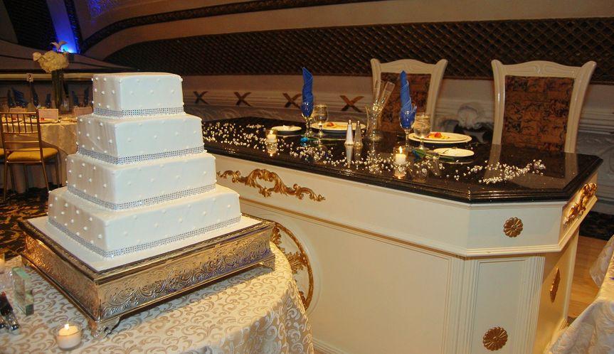 Wedding cake and sweethearts table set-up