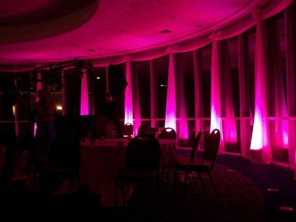 Uplighting at the Waxahachie Convention Center