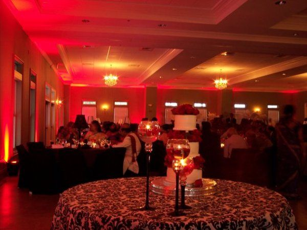 Red Uplighting at The Waterford House