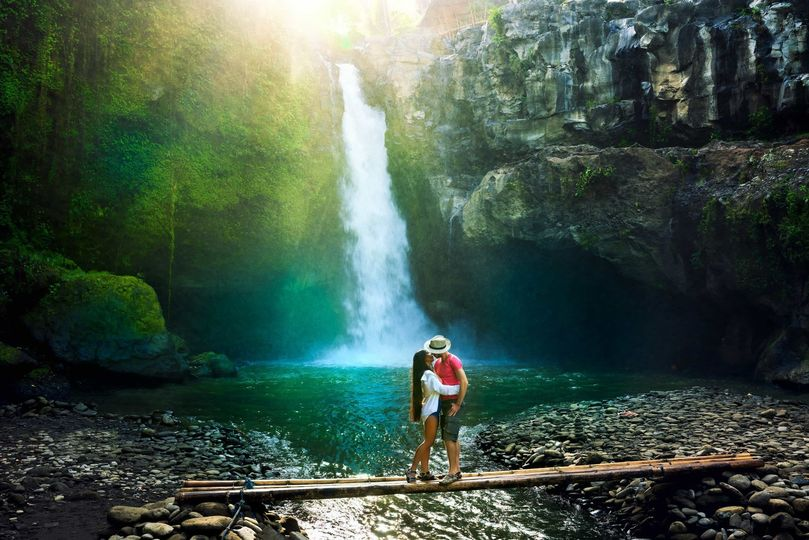 Tropical jungle exploration in Bali