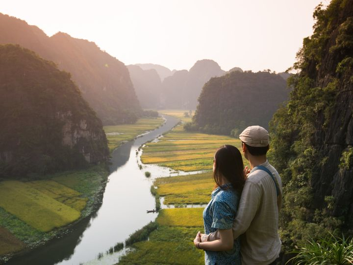 Tmx Vietnam Vietnamese Young Couple In The Famous Spot In Tam Coc Ninh Binh 51 1867263 1568409221 Mountain View, CA wedding travel