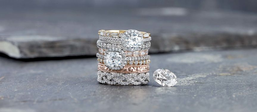Choose stackable rings to mix metals and styles for a modern and unique look