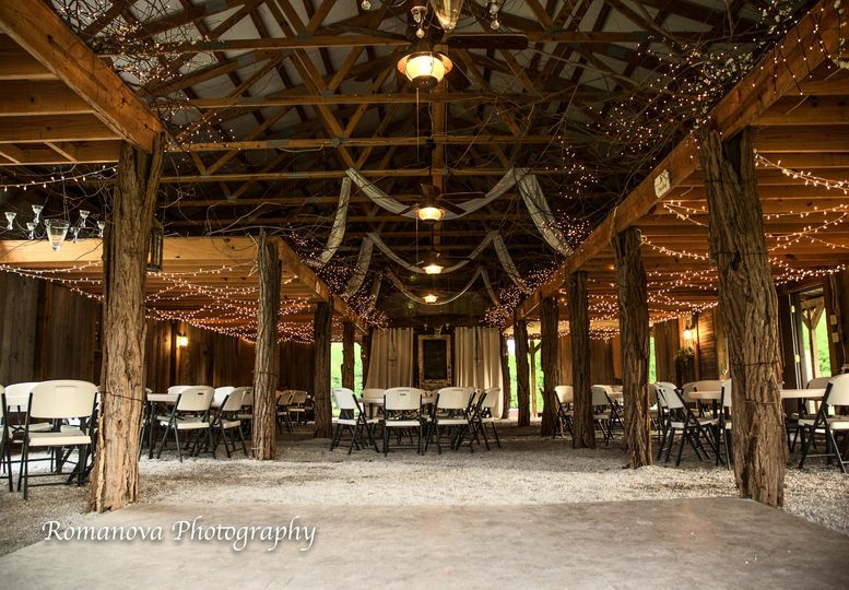 Dance floor and reception space set