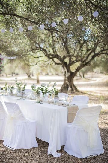 Wedding table set.