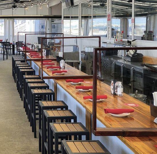 Safe Dining Patio Bar