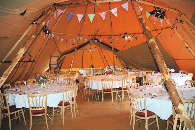 Interior of the tipi