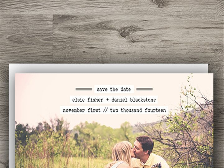 Tmx 1427233826690 Typewriter Save The Date 3 Denver wedding invitation