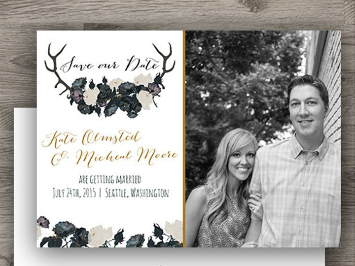 Tmx 1427233869380 Antler Std Photo 3 Denver wedding invitation