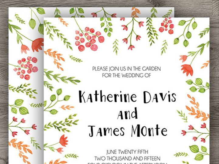 Tmx 1427233946094 Colorful Garden Wedding 3 Denver wedding invitation