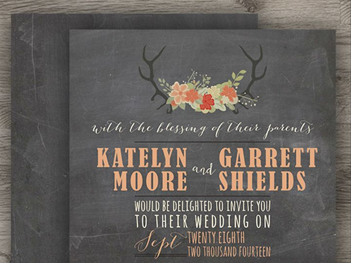 Tmx 1427233958997 Deer Wedding 3 Denver wedding invitation