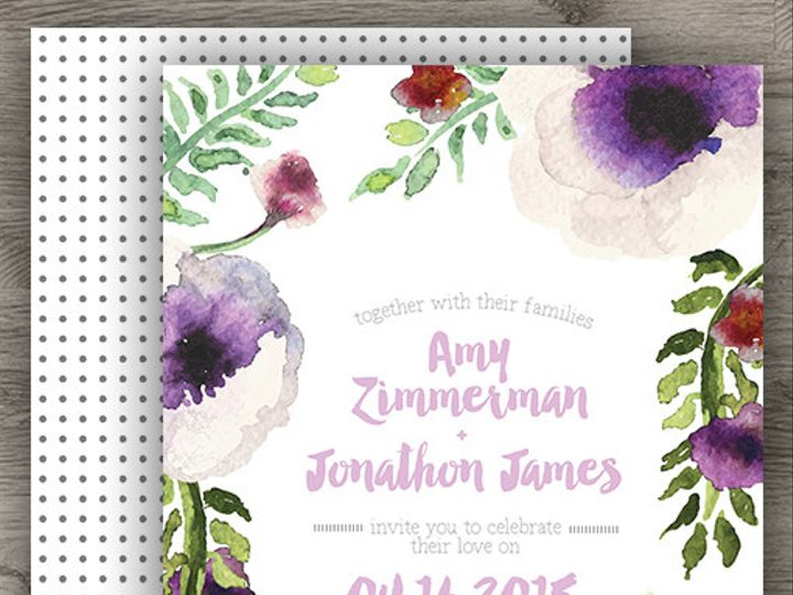 Tmx 1427233986615 Anemone Invite Final 3 Denver wedding invitation