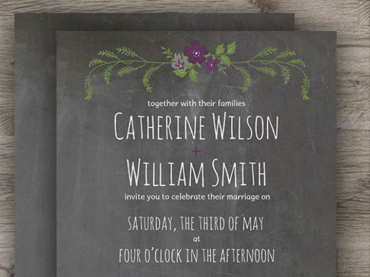 Tmx 1427233994469 Chalkboard Set 3 Denver wedding invitation