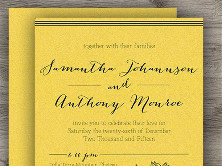 Tmx 1427234001236 Gold Set 3 Denver wedding invitation