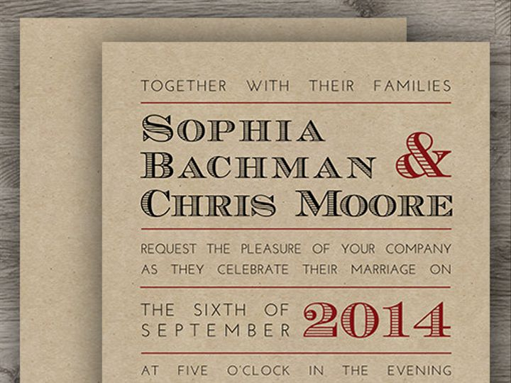 Tmx 1427234013352 Rustic Kraft Set 3 Denver wedding invitation