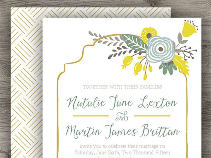 Tmx 1427234029923 Yellow Vintage Set 3 Denver wedding invitation