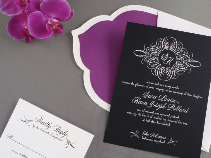 Tmx 1393251740496 Black Paper Smalle Pennington wedding invitation