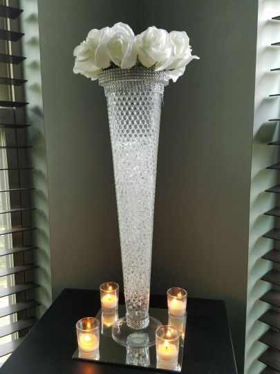 Tall vase with flowers