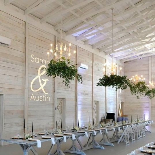 The White Dove Barn Reception