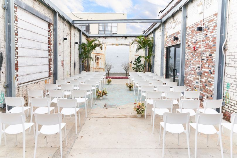 Ceremony in inner courtyard