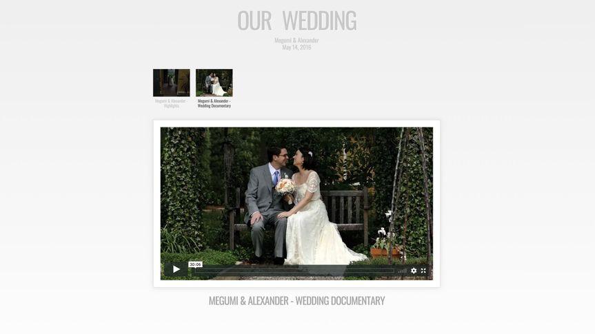 Wedding Film Page sample
