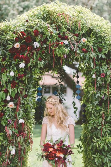 Creative bridal portrait