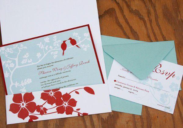 Tmx 1265912610521 Lovebirdsinside Honolulu wedding invitation