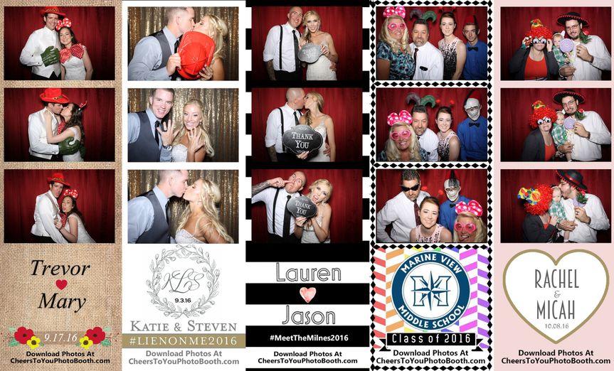 Cheers To You Photo Booth | Huntington Beach, CA | Photo Strip