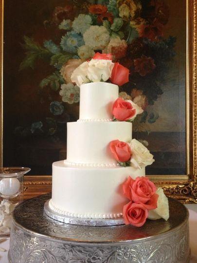Floral wedding cake 2
