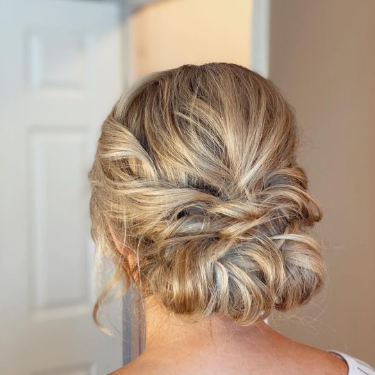 Low romatic updo