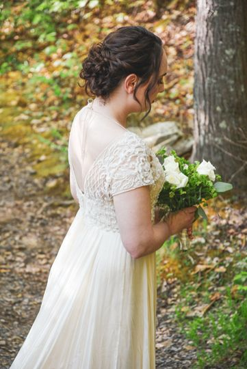 Updo on the gorgeous bride