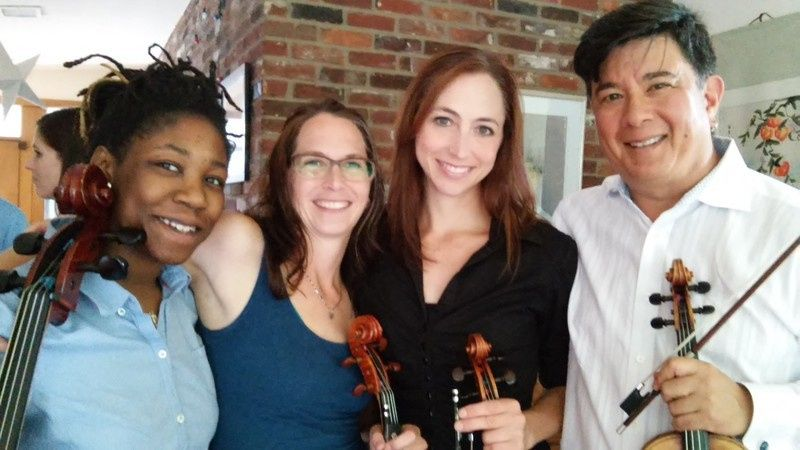 Political Reception String Quartet in a client's home