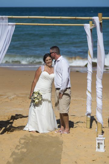 Beach wedding bliss