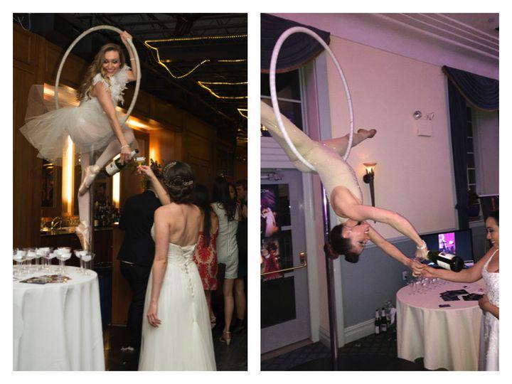 aerial champagne service bride lollipop