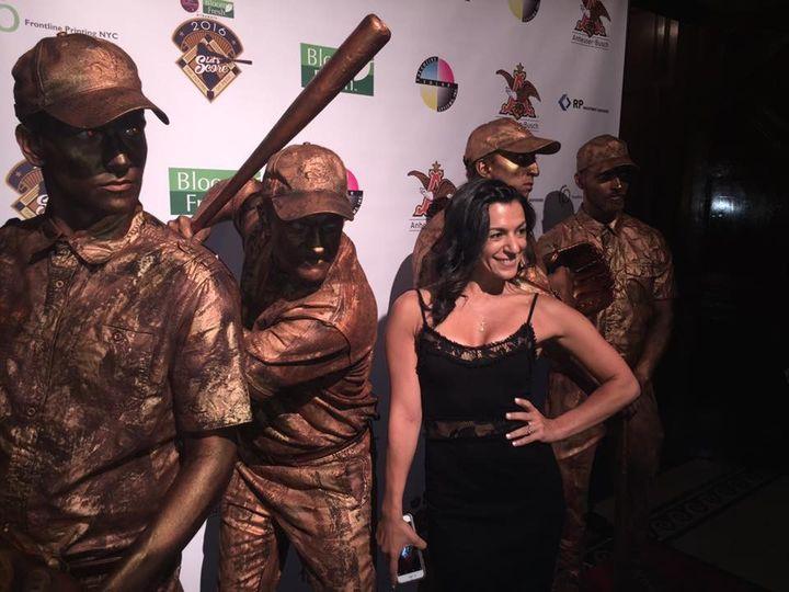 bronze vintage baseball living statues carlos belt