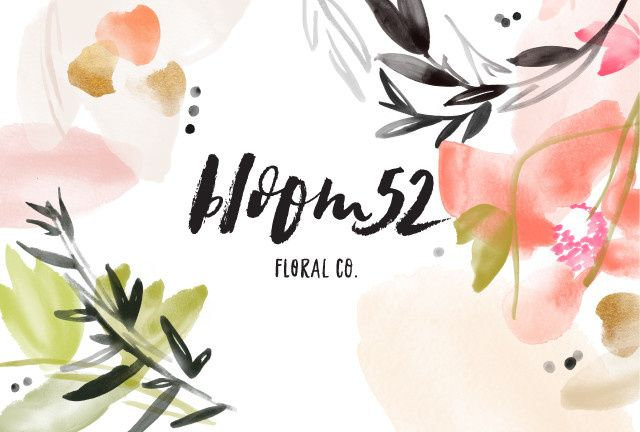bloom 52 with floral pattern logo