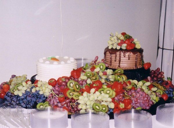 Fresh fruit and dessert table, great for groom's cake area!
